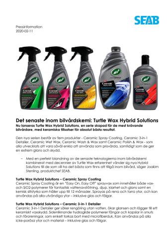 Det senaste inom bilvårdskemi: Turtle Wax Hybrid Solutions