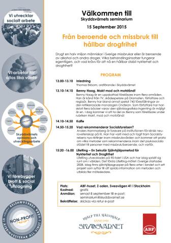 Delta på vårat spännande seminarium 'Från beroende och missbruk till hållbar drogfrihet' helt gratis!