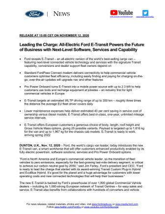 E-transit EU-release