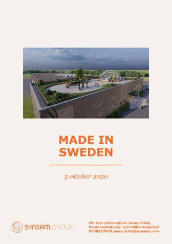 Pressfolder Synsam flyttar hem produktionen från Asien till Sverige