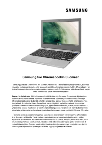 Samsung tuo Chromebookin Suomeen