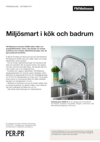 Miljösmart i kök och badrum