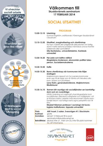 Hör Magdalena Andersson (s), ekonomisk-politisk talesman, vid Skyddsvärnets seminarium om Social Utsatthet den 17 februari