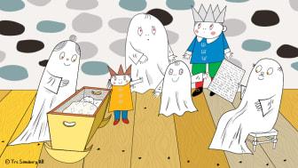 Lilla Spöket Laban m familj, liggande