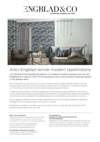Arkiv Engblad skriver modern tapethistoria