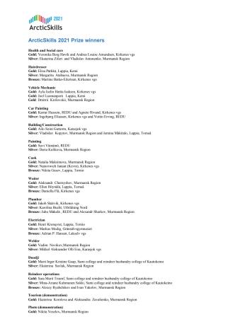 ArcticSkills 2021 Prize winners.pdf