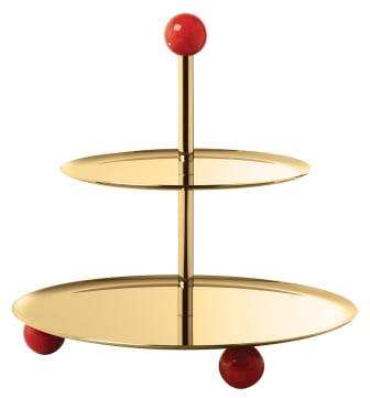SBT_Penelope_Etagere_2_tiers_22_cm_PVD_Gold_Carnelian_Red