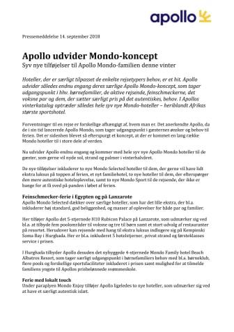 Apollo udvider Mondo-koncept