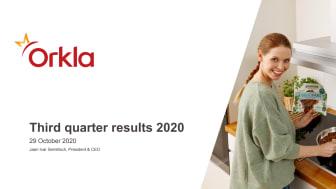 Presentation of 3rd quarter 2020