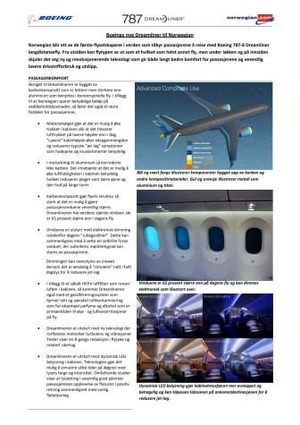 Dreamliner Fakta