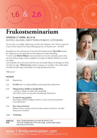 Frukostseminarium i Göteborg den 17 april