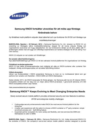 Samsung KNOX fortsätter utvecklas för att möta upp företags förändrade behov