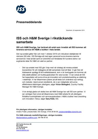 ISS och H&M Sverige i rikstäckande samarbete