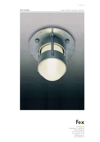 Produktblad utomhusbelysning Klampen LED