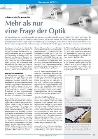 Tubenmaterial für Kosmetika: Mehr als nur eine Frage der Optik