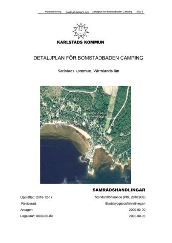 Planbeskrivning detaljplan för Bomstabaden Camping