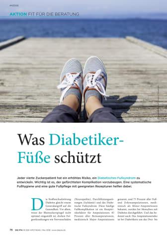Was Diabetiker-Füße schützt