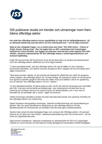 ISS publicerar studie om trender och utmaningar inom framtidens offentliga sektor