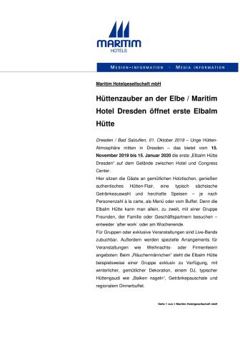 Hüttenzauber an der Elbe
