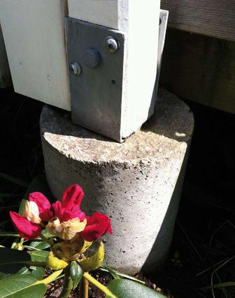 Gjut plint med betong från Weber