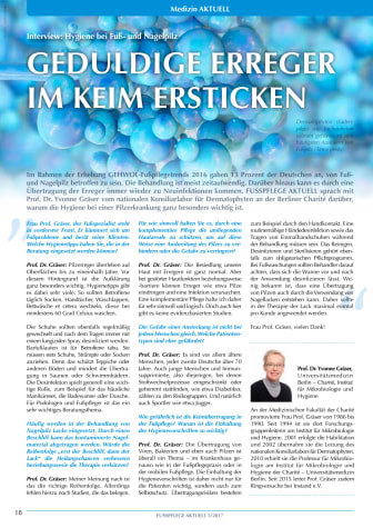 Interview: Hygiene bei Fuß- und Nagelpilz