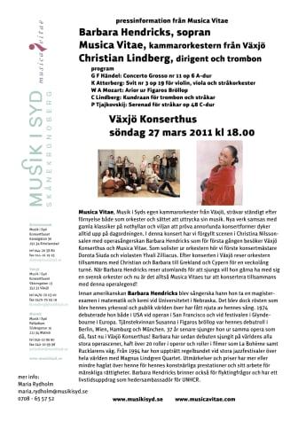 Barbara Hendricks möter Musica Vitae
