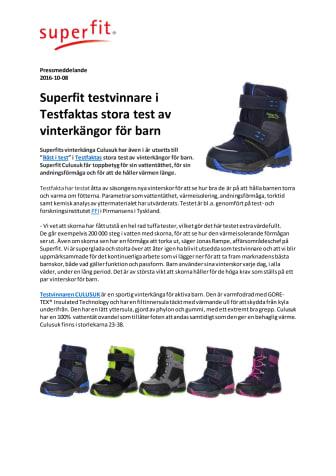 Superfit testvinnare i Testfaktas stora test av vinterkängor för barn