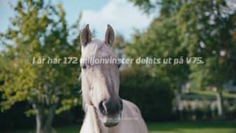 Reklam med sjungande hästar