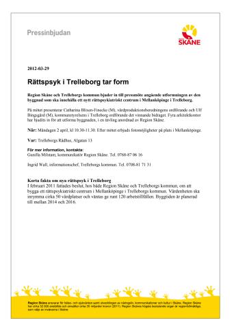 Pressinbjudan - Rättspsyk i Trelleborg tar form