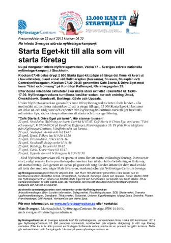 Starta Eget-kit till alla som vill starta företag