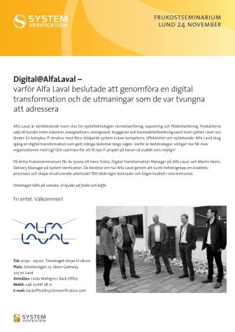 Digital@AlfaLaval – varför Alfa Laval beslutade att genomföra en digital transformation.