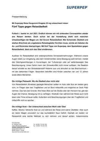 Pressemitteilung Superpep - Endlich Reisen - Fünf Tipps gegen Reiseübelkeit.pdf