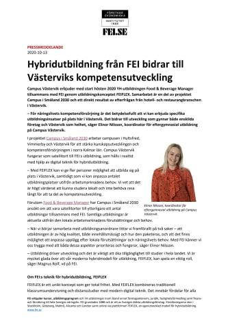 Hybridutbildning från FEI bidrar till Västerviks kompetensutveckling