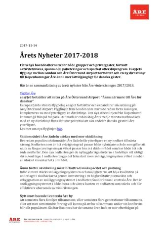 Årets Nyheter 2017-2018 