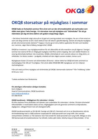 OKQ8 storsatsar på mjukglass i sommar