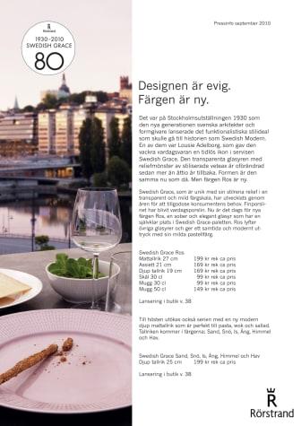 Rörstrand: Swedish Grace - Designen är evig.Färgen är ny.