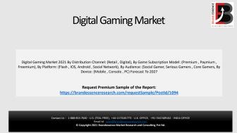 Digital Gaming Market Size 2021 - Market Data Analysis PDF