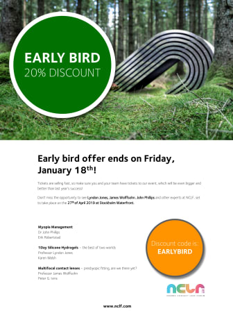 Early bird offer ends on Friday, January 18th!
