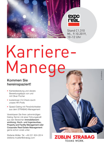 Einladung Karriere-Manege, ExpoReal 2019