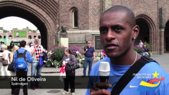 Nil Oliveira hälsar välkomna till Friidrotts-SM 2013 i Borås