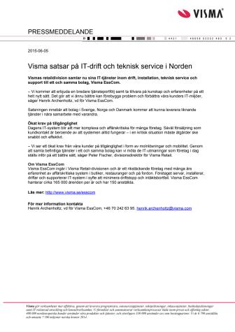 Visma satsar på IT-drift och teknisk service i Norden
