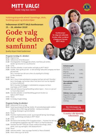 Program for Mitt Valg-konferansen 2018