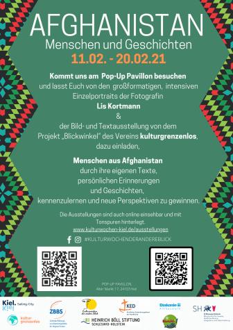 Plakat_Afghanistan - Menschen und Geschichten_kulturgrenzenlos e.V. + Lis Kortmann