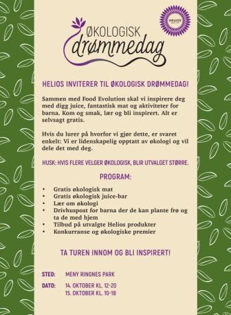 Helios inviterer til økologisk drømmedag