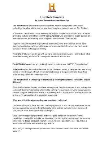 Lost Relic Hunters interview transcript 2021.pdf