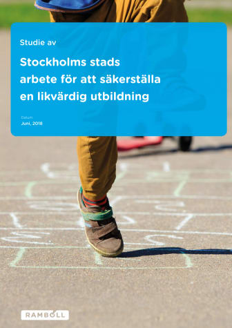 Studie av Stockholms stads arbete för att främja en likvärdig utbildning