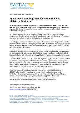 Ny nationell handlingsplan för radon ska leda  till bättre folkhälsa