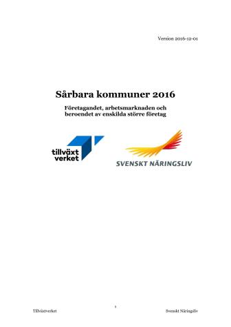 Sårbara kommuner 2016