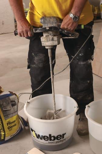 Weber Low Dust - blandning av produkt