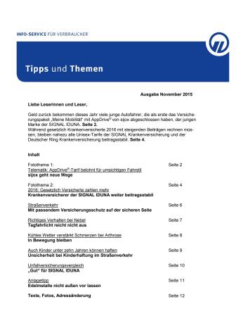 Tipps und Themen 11-2015